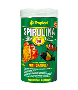 TROPICAL Spirulina Super Forte 36% mini granulat 1,68kg/3l