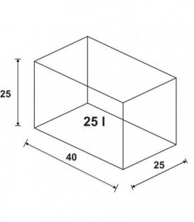 Wromak Akwarium proste 40x25x25h