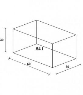 Wromak Akwarium proste 60x30x30h