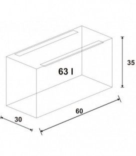 Wromak Akwarium proste 60x30x35h
