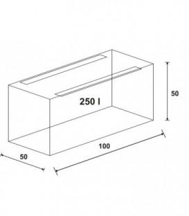 Wromak Akwarium proste 100x50x50h