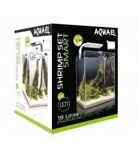 Zestaw Aquael Shrimp Set LED 19l - black white